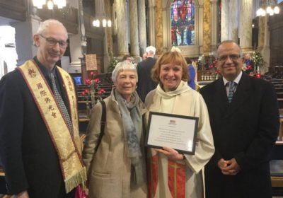 BCF Awards Catherine Ogle at the end of her final service in Birmingham