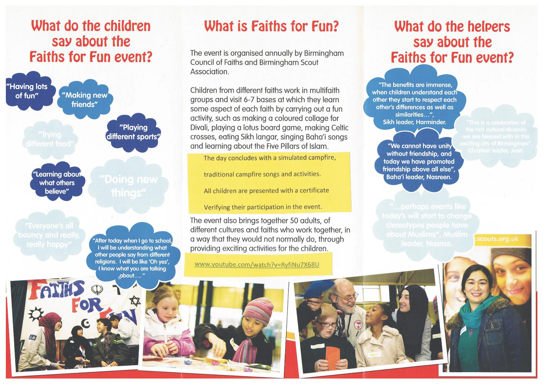 9th Great Year Faiths for Fun Event @ Hamstead Hall Academy | England | United Kingdom