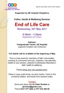Faiths, Health & Wellbeing Seminar